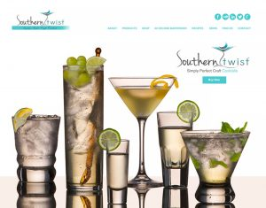 Ellev Advertising Agency Southern Twist Cocktail Infusions Website Design